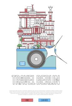 Podróż szablon sieci web berlin z aparatem