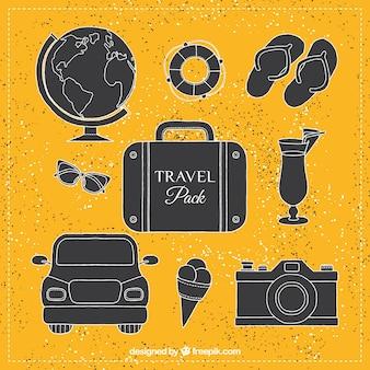 Podróż w stylu pakietu płaskiej