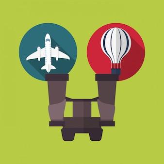 Podróż wakacje lub wakacje związane ikony obrazu
