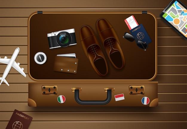 Podróże i turystyka ilustracji wektorowych