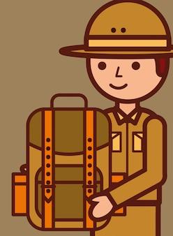 Podróże ludzi safari