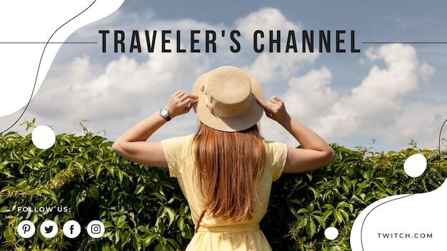 Podróżna okładka na youtube
