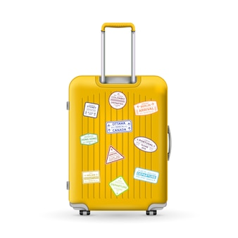 Podróżna walizka z poliwęglanu, bagaż.