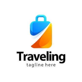 Podróżne logo gradientu