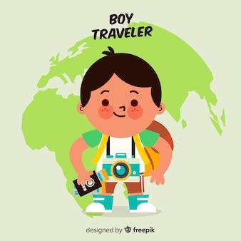 Podróżnik chłopiec