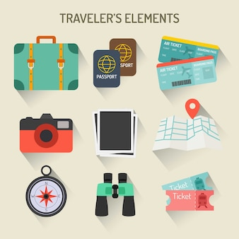 Podróżników elementy collection