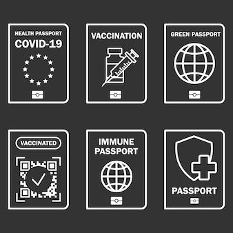 Podróżny dokument odpornościowy certyfikat odporności na covid19 dla bezpiecznego podróżowania lub robienia zakupów