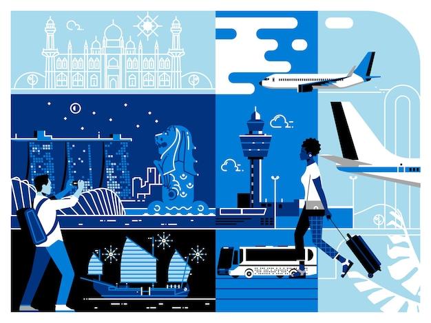 Podróżowanie po azji singapurze