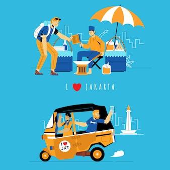 Podróżowanie turystyczne poznaj dżakartę indonezja