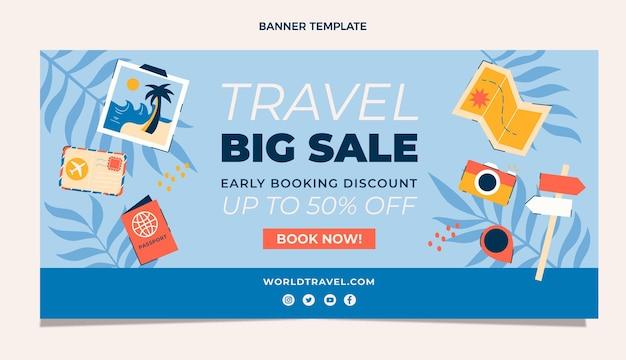 Podróżuj duży szablon transparentu sprzedaży