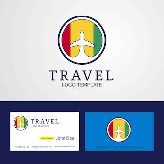 Podróżuj logo i kartę creative guinea flog