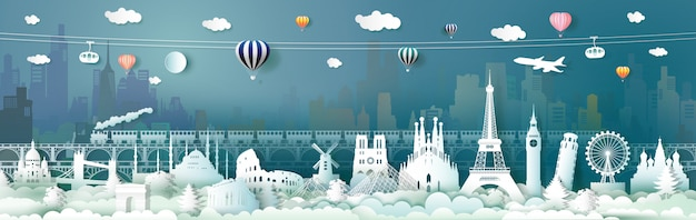 Podróżuj po europie światowymi atrakcjami z kolejką linową