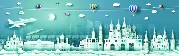 Podróżuj po rosji światowej sławy pałacu i architektury zamku.