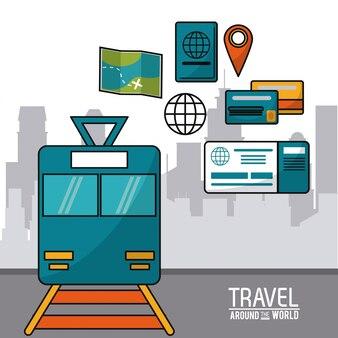 Podróżuj po świecie pociągu mapę kart kredytowych świat kart kredytowych