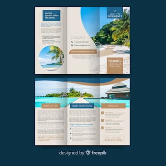 Podróżuj rozdrobnioną broszurą