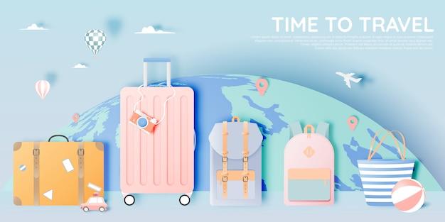 Podróżuj różnymi przedmiotami w stylu sztuki papierowej