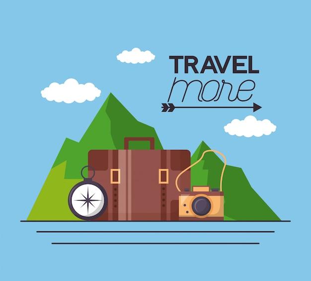 Podróżuj więcej ilustracji plakatu