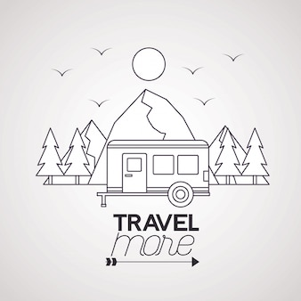 Podróżuj więcej plakatu