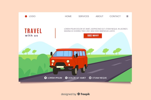 Podróżuj z nami stroną docelową