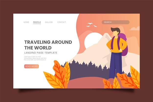 Podróżująca tematyczna strona docelowa