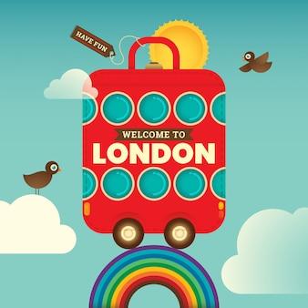 Podróżujący londyn tło
