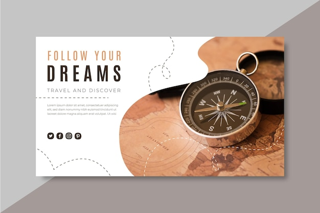Podróżujący szablon bloga banner