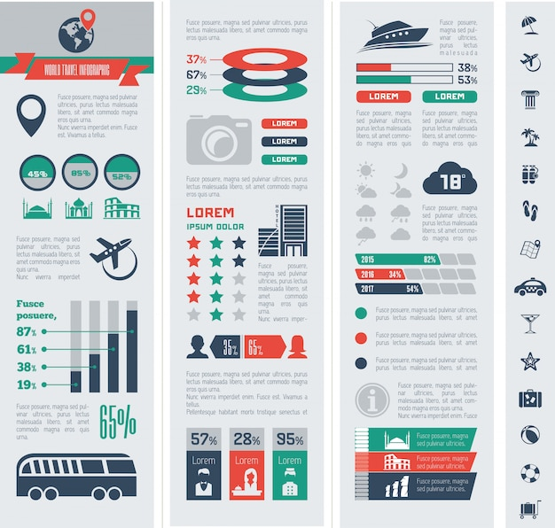 Podróży infographic szablon.