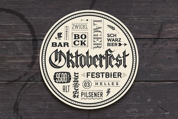Podstawka pod napoje z napisem na oktoberfest