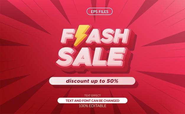 Podstawowa sprzedaż rgbflash 3d edytowalny efekt tekstowy z symbolem grzmotu. duży baner rabatowy na sprzedaż. plik wektorowy eps