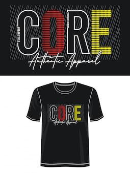 Podstawowa typografia koszulki z nadrukiem