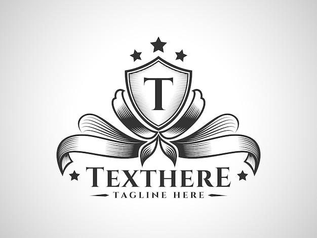 Podstawowe logo rgbluxurious classic tarcza ornament z niestandardową literą umieść na tarczy.