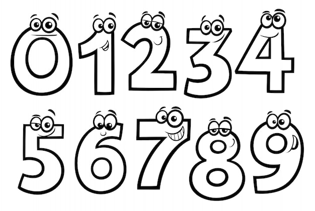 Podstawowe numery kreskówka zestaw kolorowanka