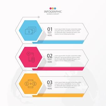 Podstawowy projekt infografiki z cienką linią