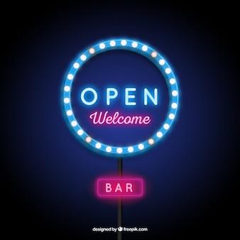 Podświetlany znak otwarta
