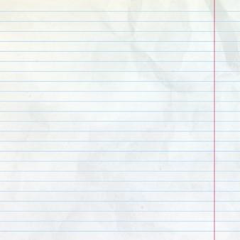 Podszyty arkusz notatnika.