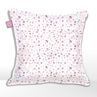 Poduszka lub poduszka z nadrukowanym wzorem lastryko, skały, granitu lub kamienia