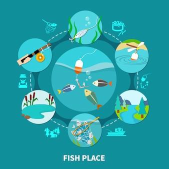 Podwodna kompozycja rybacka