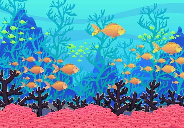 Podwodny charakter tło.