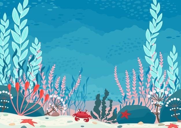 Podwodny charakter tło