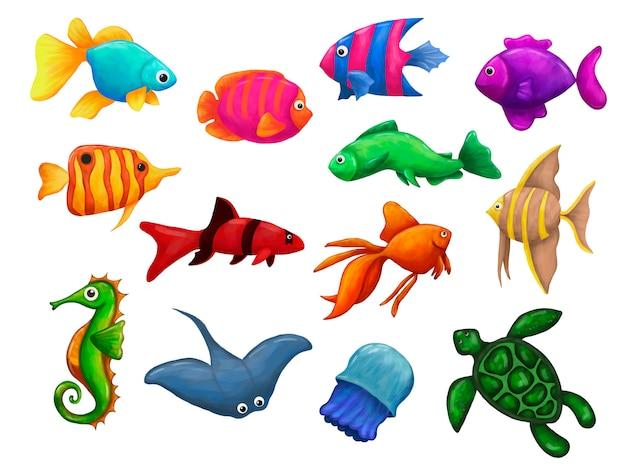 Podwodny świat ryb i zwierząt morskich