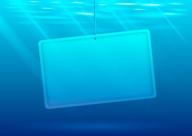 Podwodny tło z sztandarem
