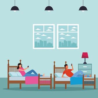 Podwójna sypialnia i ludzie bez twarzy
