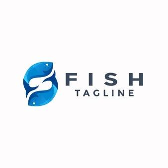 Podwójne logo kolorowe ryby