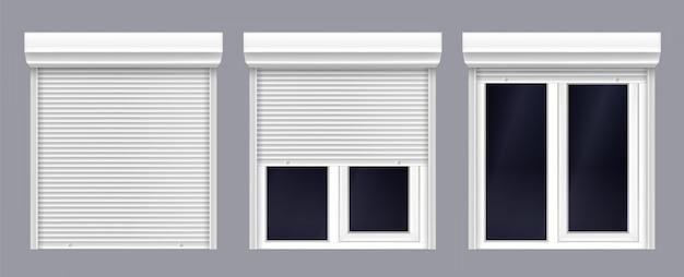 Podwójne okno z roletą podnoszoną i zamykaną