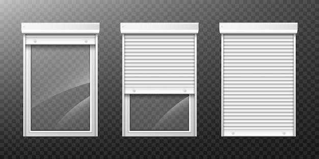 Podwójne okno z roletą w górę i zamknąć