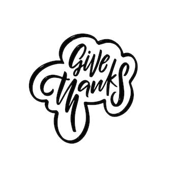 Podziękuj ręcznie rysowane czarny kolor uroczystość napis frazę