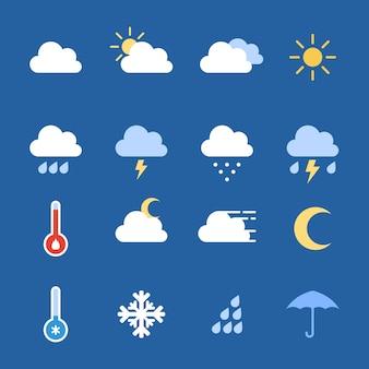 Pogoda ikony kolekcji