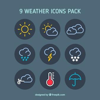 Pogoda ikony spakować