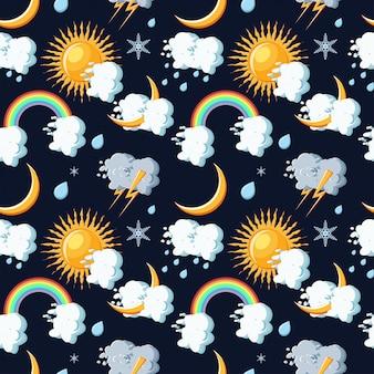 Pogoda ikony wzór