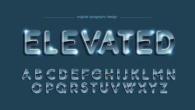 Pogrubiony chromowany styl typografii gradientowej